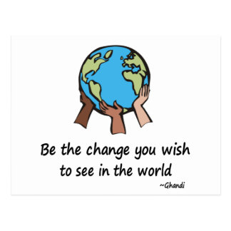 Be the Change postcards