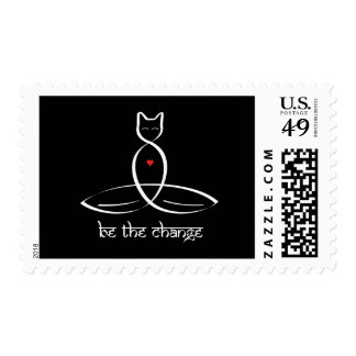 Be The Change - Sanskrit style text. Postage