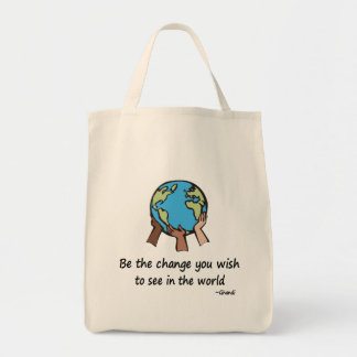 Be the change totebag grocery tote bag