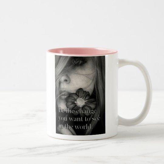 Be the change Two-Tone coffee mug