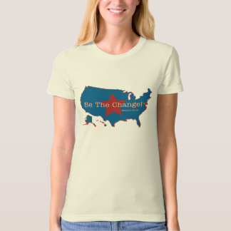Be The Change USA Organic Ladies T T-Shirt