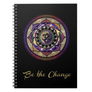 Be the Change with Purple and Gold Mandala Journal