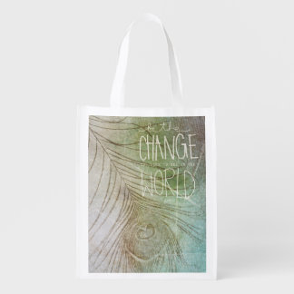 Be The Change You Wish To See Grocery Bag
