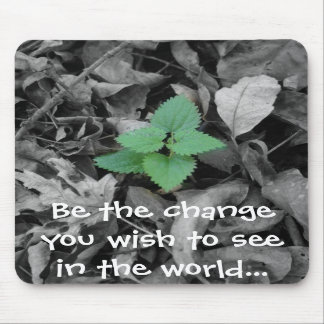 Be the change you wish to see in the world gift mousepads