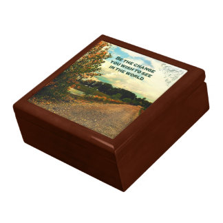 Be The Change You Wish To See In The World Keepsake Box