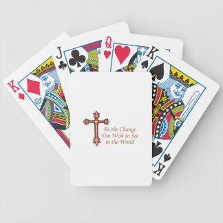 Be The Change You Wist To See In The World Bicycle Playing Cards