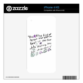 Be the kind of person iPhone 4S skins