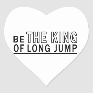 Be The King Of Long Jump Heart Sticker