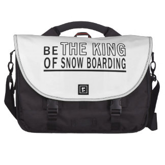 Be The King Of Snow Boarding Laptop Commuter Bag