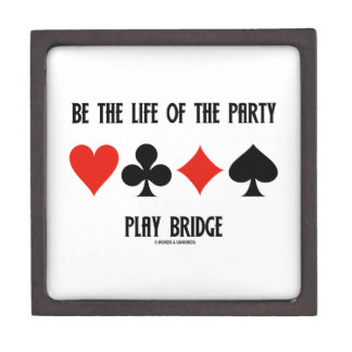 Be The Life Of The Party Play Bridge (Card Suits) Gift Box