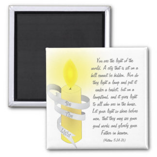 Be The Light 2 Inch Square Magnet