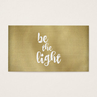 Be the light business card