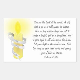 Be The Light Rectangular Sticker
