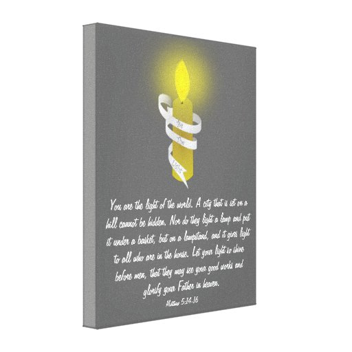 Be The Light Scripture Gallery Wrapped Canvas