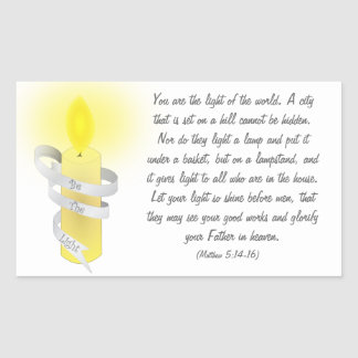Be The Light Stickers
