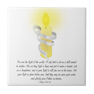 Be The Light Small Square Tile