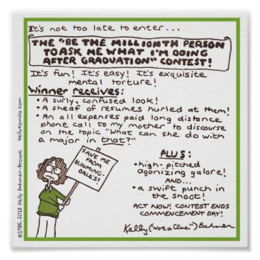 """Art Themed """"Be the Millionth Person ..."""" Poster (Green)"""