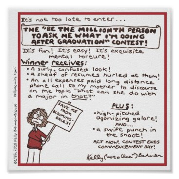 """Art Themed """"Be the Millionth Person ..."""" Poster (Red)"""