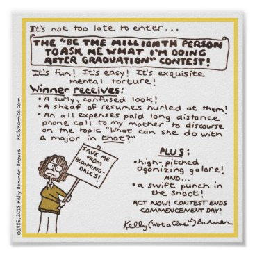 """Art Themed """"Be the Millionth Person ..."""" Poster (Yellow)"""