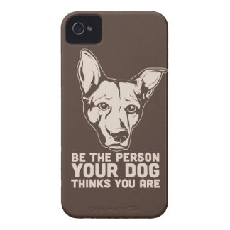be the person your dog thinks you are Case-Mate blackberry case