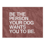BE THE PERSON YOUR DOG WANTS YOU TO BE -.png Postcards