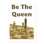 Be The Queen Chess Large Business Cards (Pack Of 100)