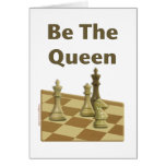 Be The Queen Chess Card