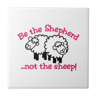 Be the Shepherd Small Square Tile