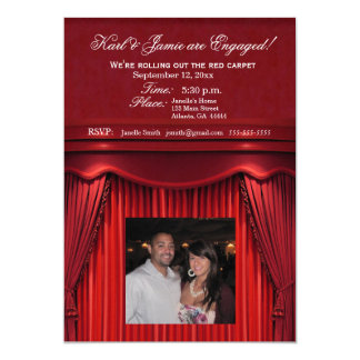Be the stars in your own move theatre invitation! card