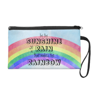Be the Sunshine in the Rain Wristlet Clutches