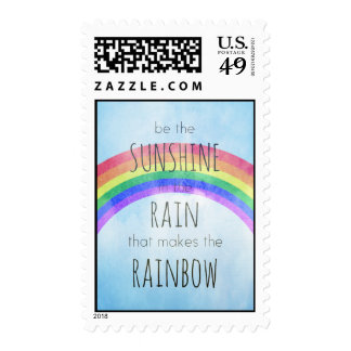 Be the Sunshine in the Rain Postage Stamps