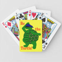 Be the Turtle Bicycle Playing Cards