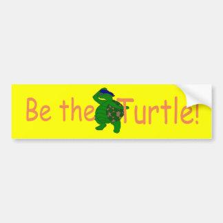Be the Turtle Divo Bumper Sticker Car Bumper Sticker