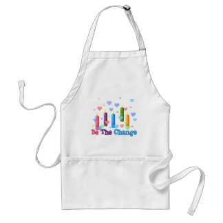 Be The  World Change Adult Apron