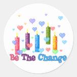 Be The  World Change Classic Round Sticker
