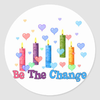 Be The  World Change Classic Round Sticker