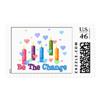Be The World Change Postage Stamp