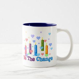 Be The  World Change Two-Tone Coffee Mug