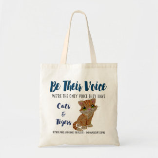 BE THEIR VOICE-Animal Rescue Project-Cats/Tigers Tote Bag
