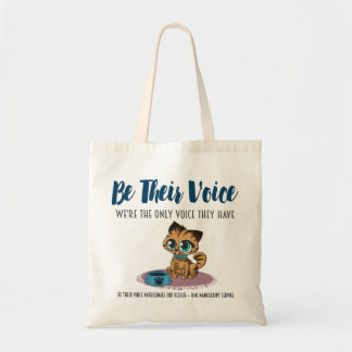 BE THEIR VOICE-Animal Rescue Project-Cats Tote Bag