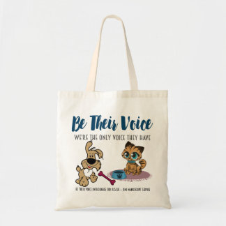 BE THEIR VOICE-Animal Rescue Project-Dog/Cat Tote Bag