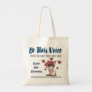 BE THEIR VOICE-Animal Rescue Project-Rabbit Tote Bag