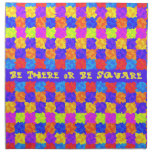 Be There or Be Square 1970s Party Printed Napkins