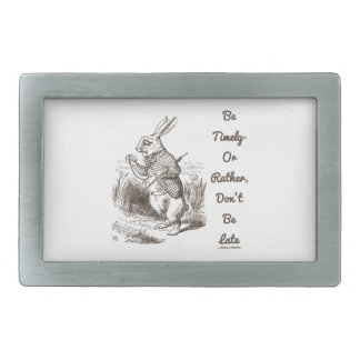 Be Timely- Or Rather, Don't Be Late White Rabbit Belt Buckle