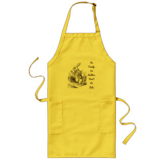 Be Timely- Or Rather, Don't Be Late White Rabbit Long Apron
