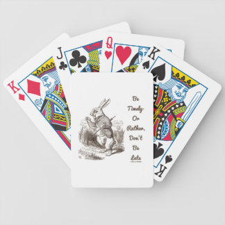 Be Timely- Or Rather, Don't Be Late White Rabbit Bicycle Poker Cards