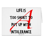 Be Tolerant of Nonbelievers Card