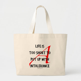 Be Tolerant of Nonbelievers Large Tote Bag