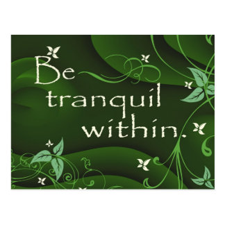 Be Tranquil Within Zen Postcard