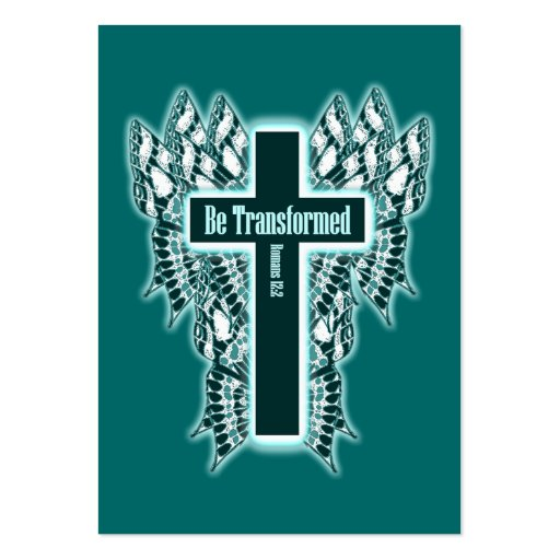 Be Transformed – Romans 12:2 Tract Cards / Large Business Cards (Pack Of 100)